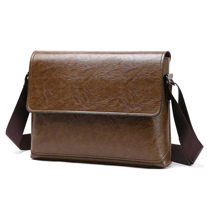 1PCS  Summer New Fashionable Men's Bag Single Shoulder Messenger Handbag Pu Single Shoulder Bag