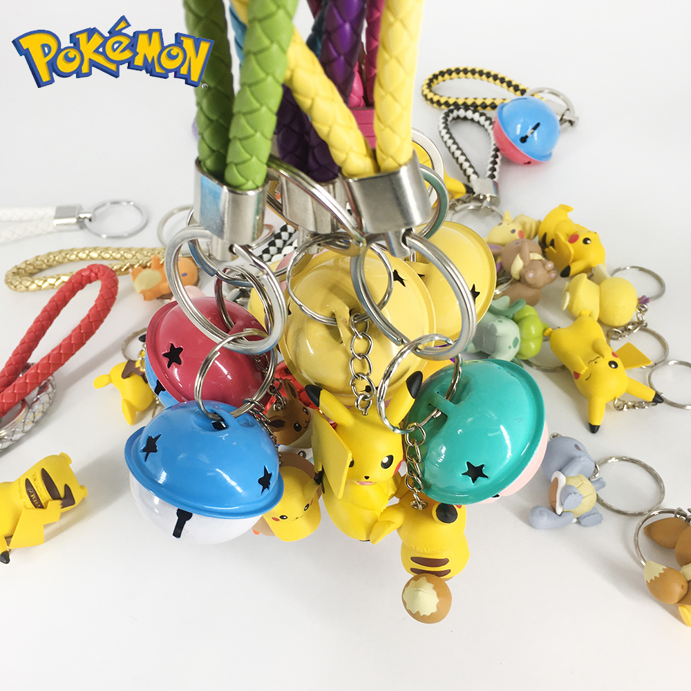 DIY Pokemon Keychain Pikachu Action Figure Pokemon Elf Series Children Toy Christmas Gifts 5