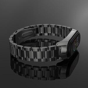 Image 3 - Mi Band 5 Strap Bracelet Wristband for Xiaomi Band Correa Pulseira Opaska Miband 4 Xiomi My Band Strap 3 4 5 Xiami Metal Global