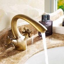 Antique Basin Faucet Brass Mixer Bathroom sink faucet Deck Mount Bath taps Faucet Water Sink Tap Crane Torneira Do Anheiro все цены