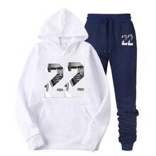 цена Fashion Number 22 printed hoodie suit Hoodie Men Solid Sweatshirt With Phone Pocke Gyms Hooded Tops Brand Male Long Sleeved Spor в интернет-магазинах