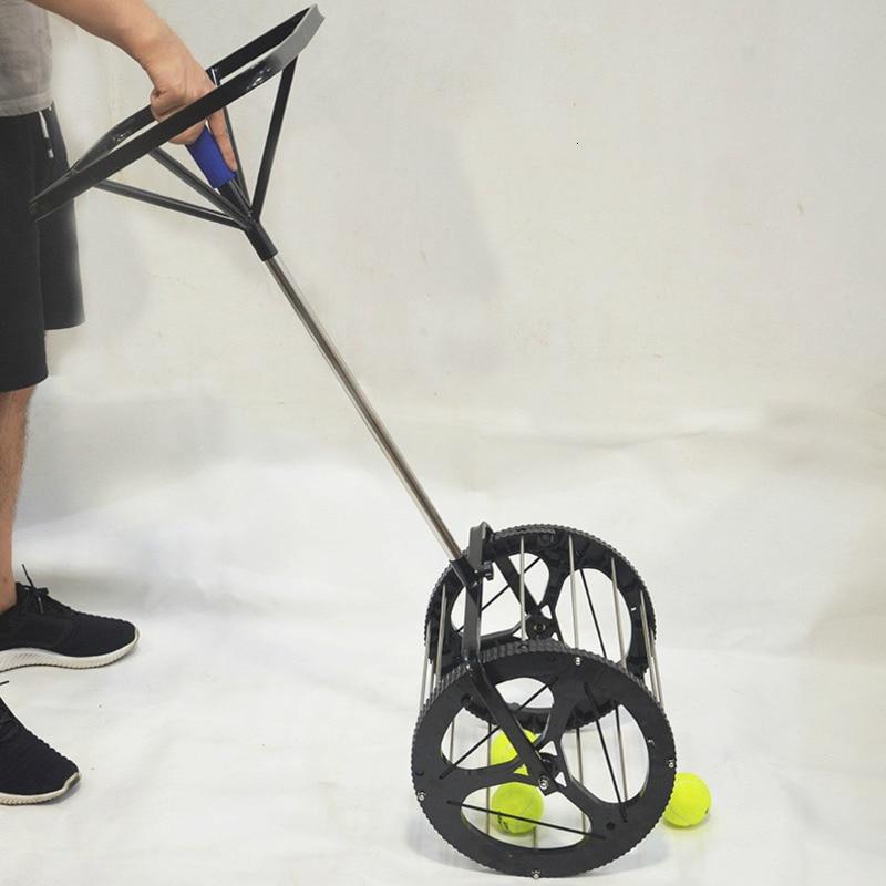 Multiple Function Tennis Balls Retriever 85 Balls Capacity Basket Stainless Steel Tennis Ball Picker Pick Up Hopper With Handle