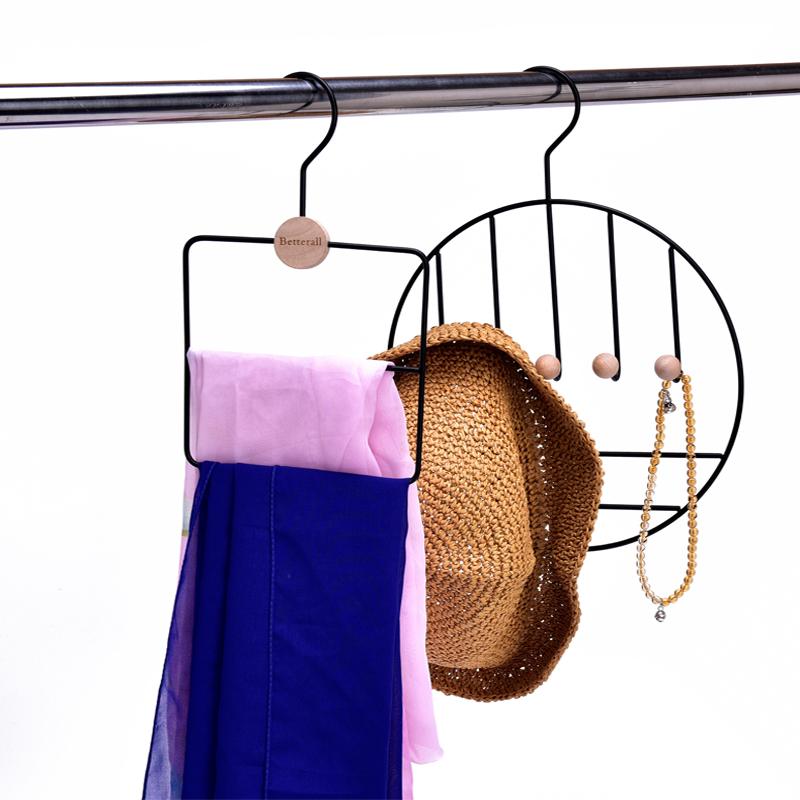 1/3PC Log Storage Hanger Home Organize Iron Hanger Men Women Storage Rack Coat Shirt Towel Tie Pants Clothes Storage Hanger