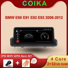 Radio con GPS para coche para BMW, Radio con Idrive, WIFI, navegador Navi, 10,25 pulgadas, estéreo, Pantalla IPS táctil, Android 2005, 2 + 32 GB de RAM, para BMW E90, E91, E92, E93, 2006 2012