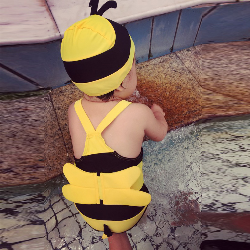 KID'S Swimwear Girls BOY'S One-piece Cute Little Bee Swimwear South Korea Small CHILDREN'S Cute Baby BABY'S Bathing Suit