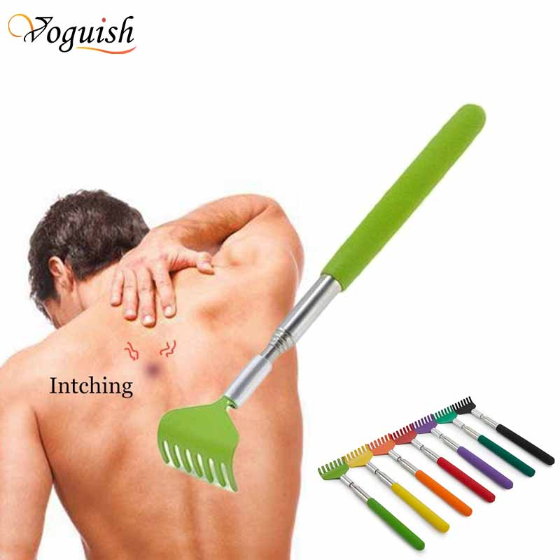 Extendable Hand Claw Back Scratcher Massager Stainless Steel Self Itching ReR/_yk