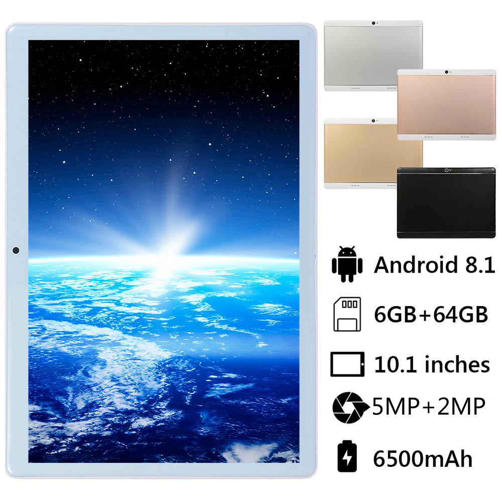 2019 New 10.1 Inch Android 8.0 Octa Core 4G Call Tablet Pc 6GB 128GB WiFi Laptop 4G Dual SIM Card Phone Call Tab Pc Tablets 10