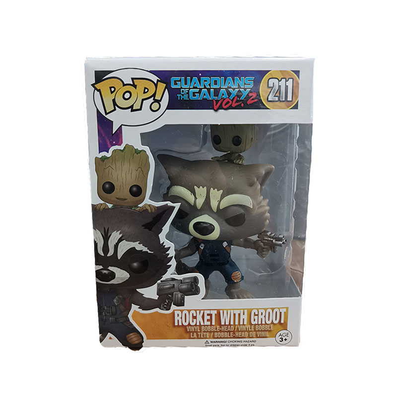 Vingadores Marvel FUNKO POP Rocket Raccoon Groot Vinil Figura de Ação Modelo Coleção Original Caixa de Presentes da Festa de Aniversário