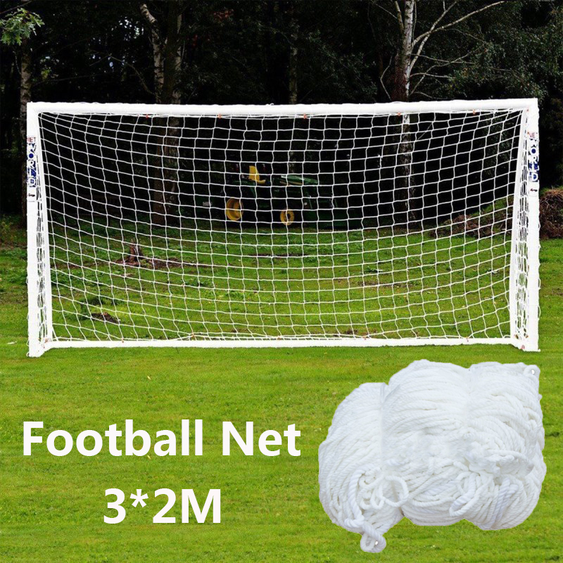 Football Net Soccer Goal Net Soccer Ball Cotton Football Training Post Nets Full Size Soccer Accessories (Nets Only)