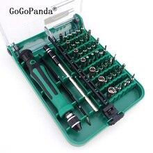 Ücretsiz kargo tasarım patentleri manyetik tornavida seti 45 In 1 Set hassas tornavida araçları 9002 / 9001 cımbız