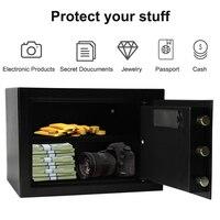 Luxury Digital Depository Drop Cash Safe Box 13.8*11*9.8IN 7.5kg Jewelry Home Hotel Lock Keypad Safety Security Box Secret stash