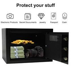 caja fuerte Caja de Seguridad Digital de lujo del depósito del efectivo 13,8*11 * 9.8IN 7,5 kg joyería de seguridad del teclado del Hotel del hogar caja de seguridad oculta