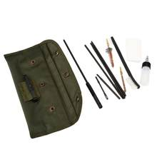 13 PCS .223 5.56 Rifle CLEANING KIT with 3 Bronze CHAMBER BRUSHES w/ Case