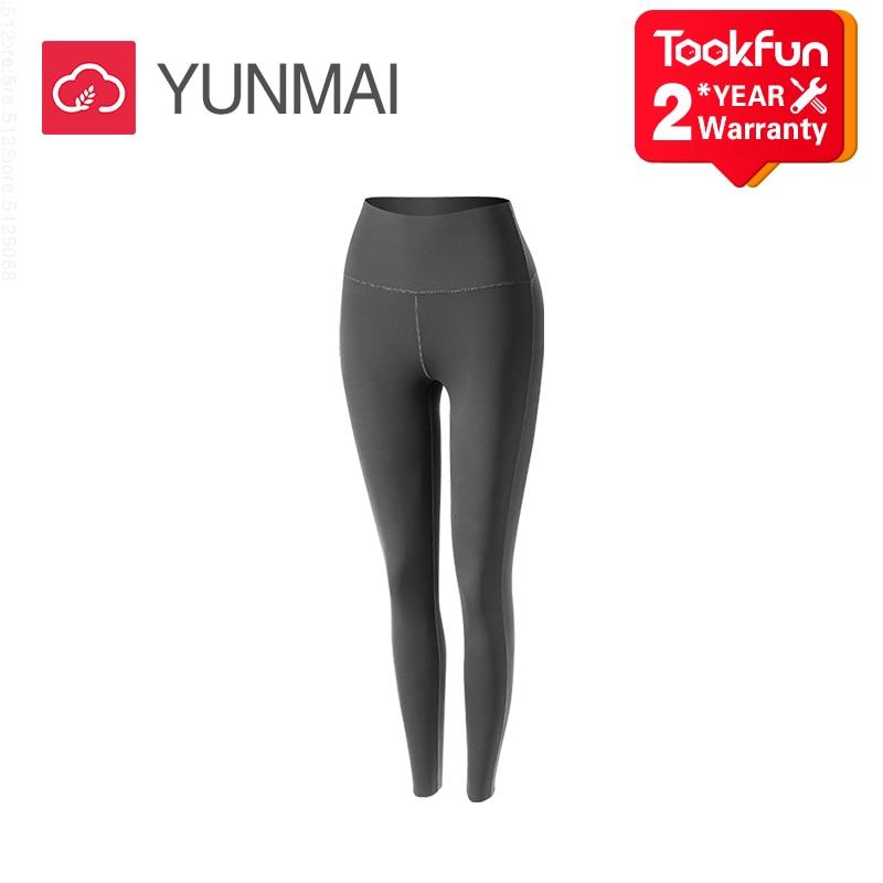 Seksi YUNMAI yüksek bel dikişsiz tayt Yoga spor spor kadın moda Jeggings pantolon enerji elastik pantolon spor spor