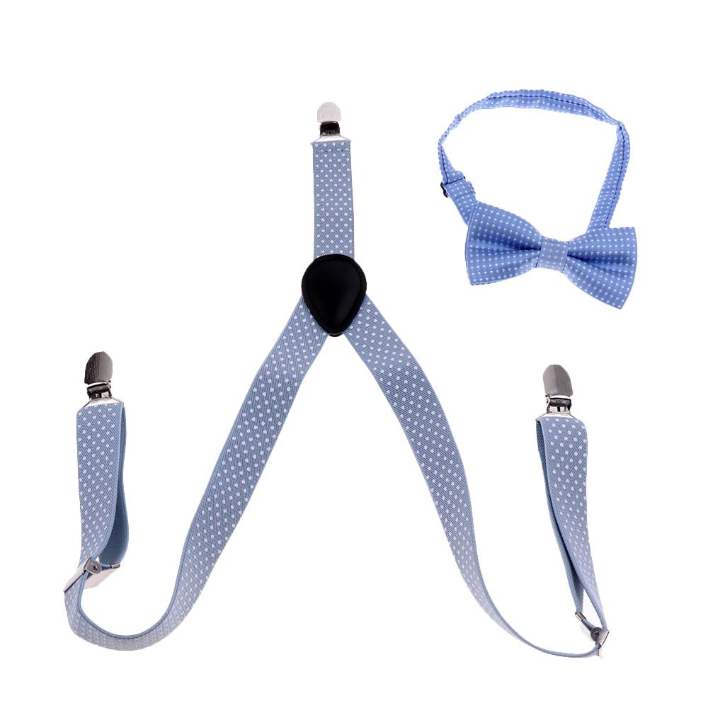 Unisex Kids Adjustable Slim Trouser Braces Suspenders Belt Multi Colors