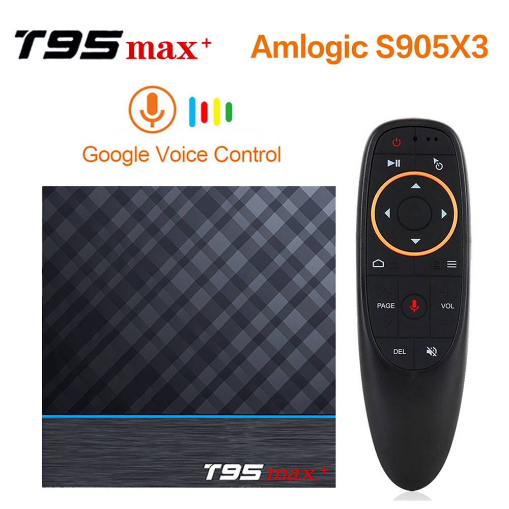 T95 max plus tv caixa android 9.0 amlogic s905x3 4 gb 32 gb 4 gb 64 gb wifi usb3.0 1080 p h.265 8 k 4 k 60fps netflix 2g16g media player