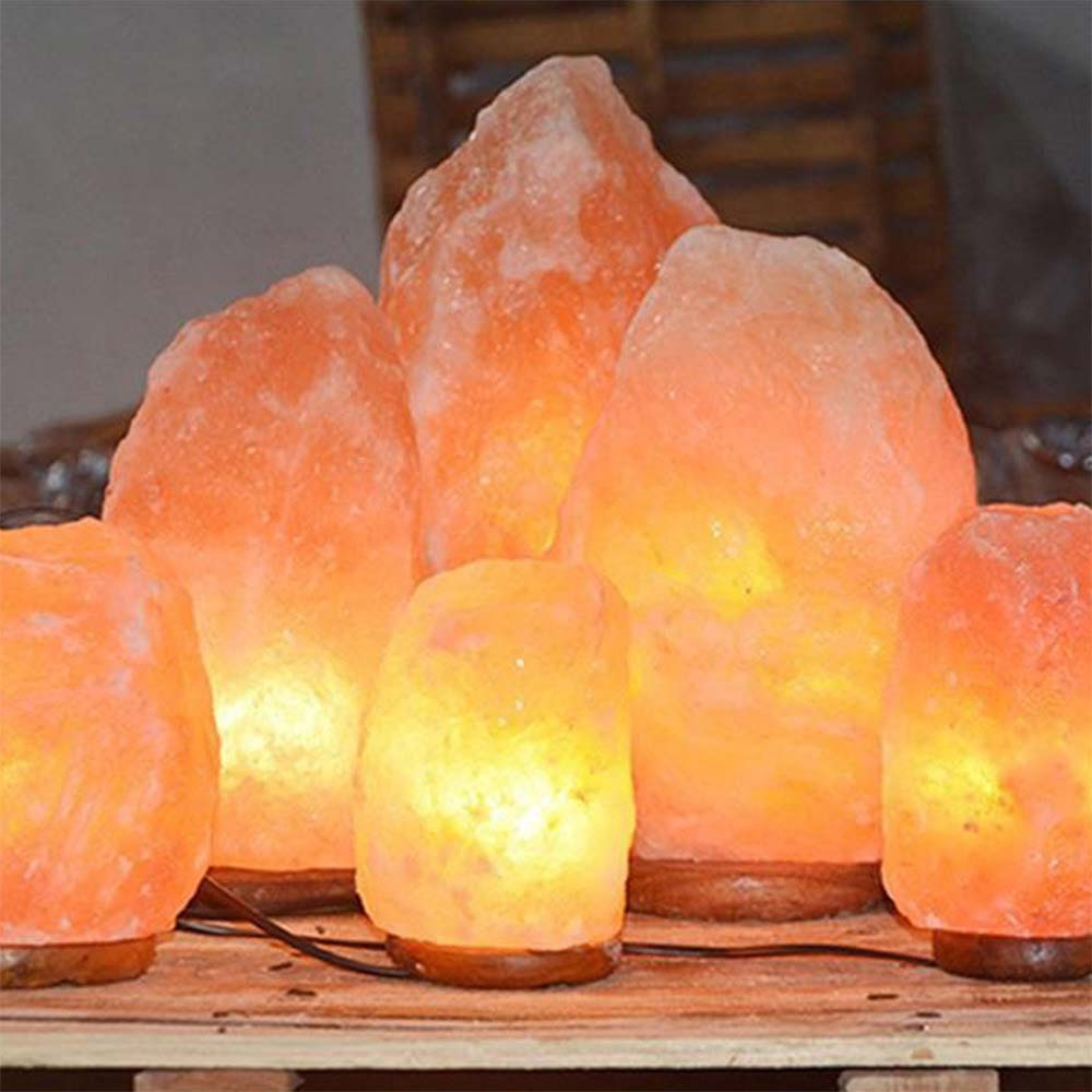 EU US  Night Light Salt Lamp Himalayan Salt Lamp Home Decor Bedroom Perfect Gift Lighting Brightness Creative