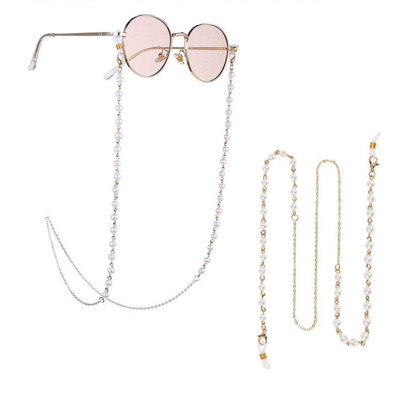 Sunglasses Masking Chains For Women Acrylic Pearl Crystal Eyeglasses Chains Lanyard Glass 2021 New Fashion Jewelry Wholesale