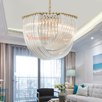 Nordic Crystal Chandelier Lamp Light Home Lighting Fixture Living room Bedroom Dining for Modern Ceiling Chandeliers Designer