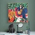 Настенная картина с изображением девушки и гитары, для гостиной