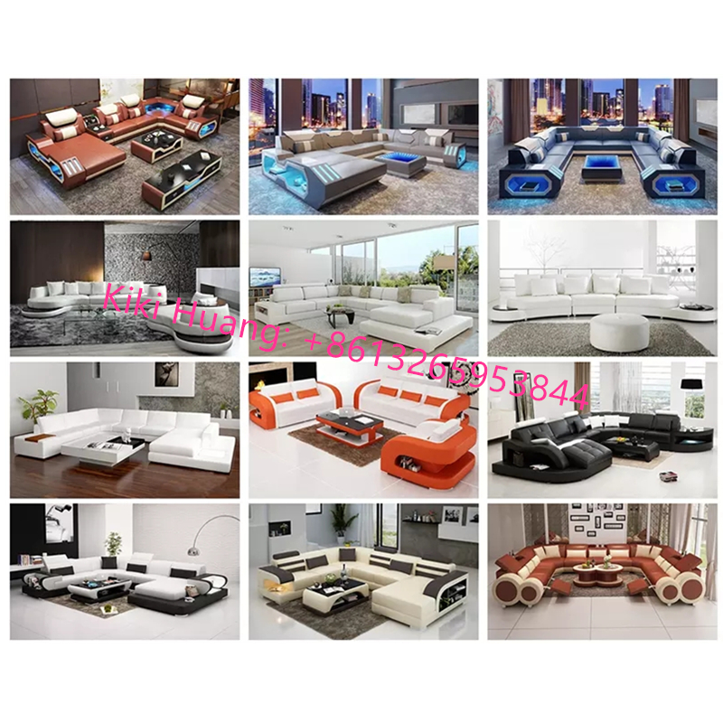 new arrival luxury design leather sofa living room sofas 6