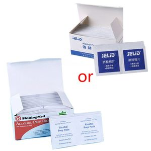 100Pcs/Box Portable Medical Alcohol Prep Pad Swabs Wipes Skin Jewelry Cleaner