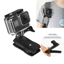 For GoPro 8 Case Backpack Clip Clamp Mount For Gopro Hero 8 Protective Shell Cover Action Camera Accessories(China)