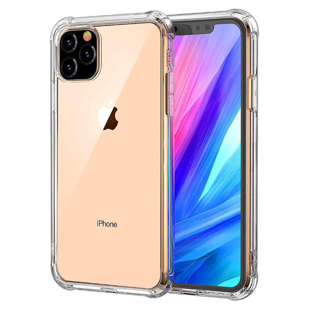 Ultra Thin Clear Tpu Siliconen Case Voor Iphone 11 Xs Max Xr 6 7 6S 8 Plus Bescherm Rubber telefoon Case Voor Iphone Se 2020 11Pro Max