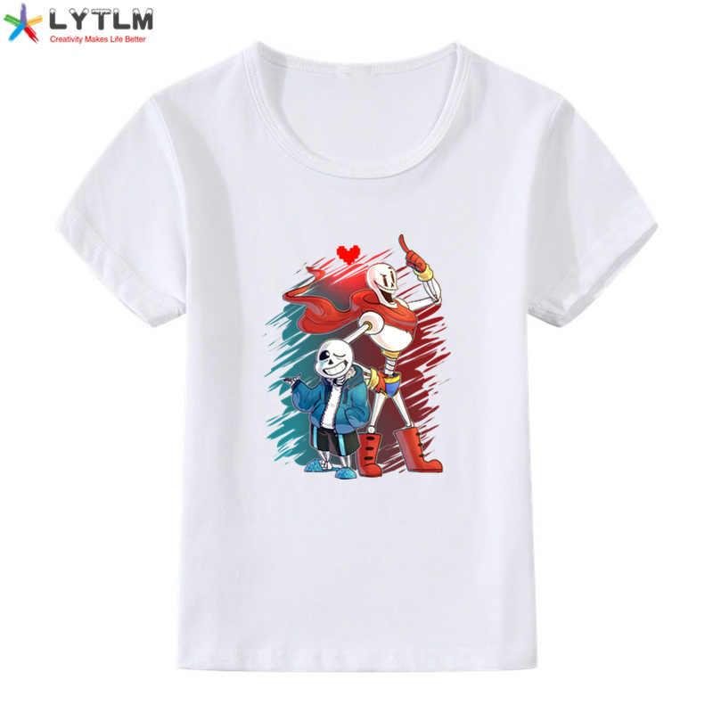 LYTLM بنين T قميص مشروط طفل فتى طويل الأكمام المحملة قمصان هالوين الملابس للأطفال راجلان Undertale بلا الاطفال قمصان الفتيان