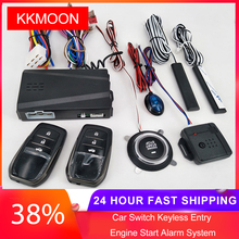 12V Car Alarm Passive Keyless One Button Start Remote Control System Auto Central Lock Push Button Start Stop Automotive PKE