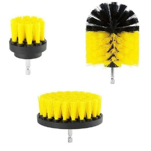 Image 3 - 3Pcs Round Full Electric Bristle Drill Brush Rotary Cleaning Tool Set Scrubber Cleaning Tool Brushes Car Wash Tool