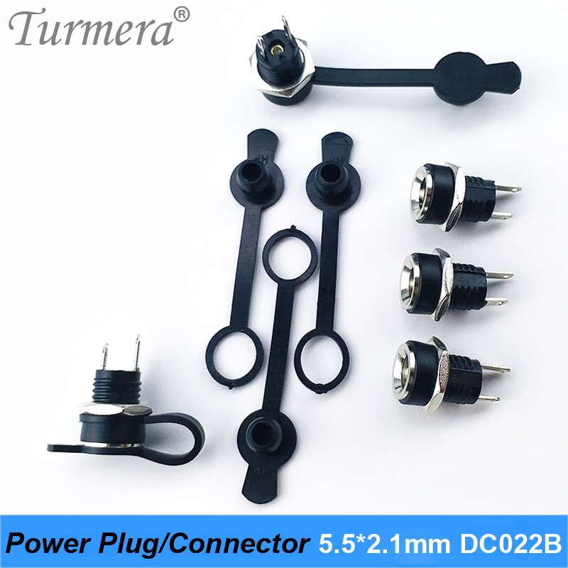 DC Power Plug Connector For Diy Dc Waterproof Jack Connector DC022B 5.5 X 2.1 Mm 5pieces/lot