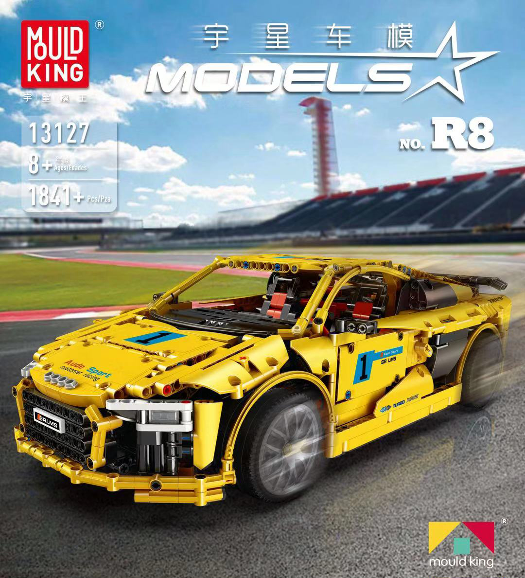 Technic Series Bricks Audis R8 V10 Speed Racing Car Model Kit Building Blocks Toys For Children Compatible with Lepined MOC 4463