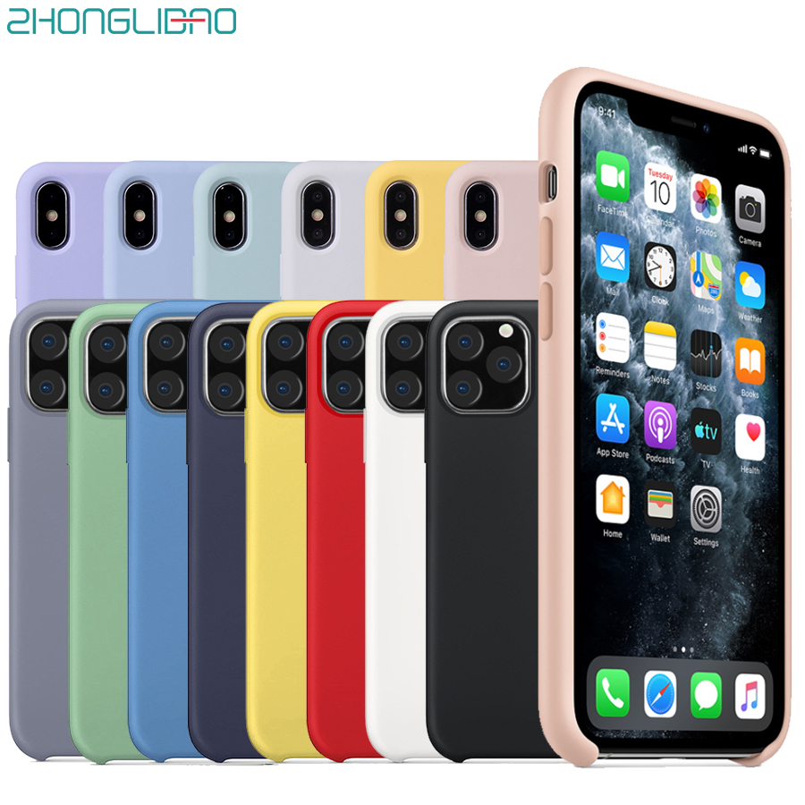 Original Official Style Silicone Case for Iphone 11 Pro 2019 New Cover for Apple IPhone 11 Pro Xs Max Xr X 1:1 with Box No Logo image
