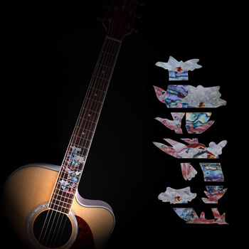 цена на Fretboard Inlay Stickers Hummingbird Pick Honey Guitar Fret Markers / Decals For Acoustic / Electric Guitarra Neck