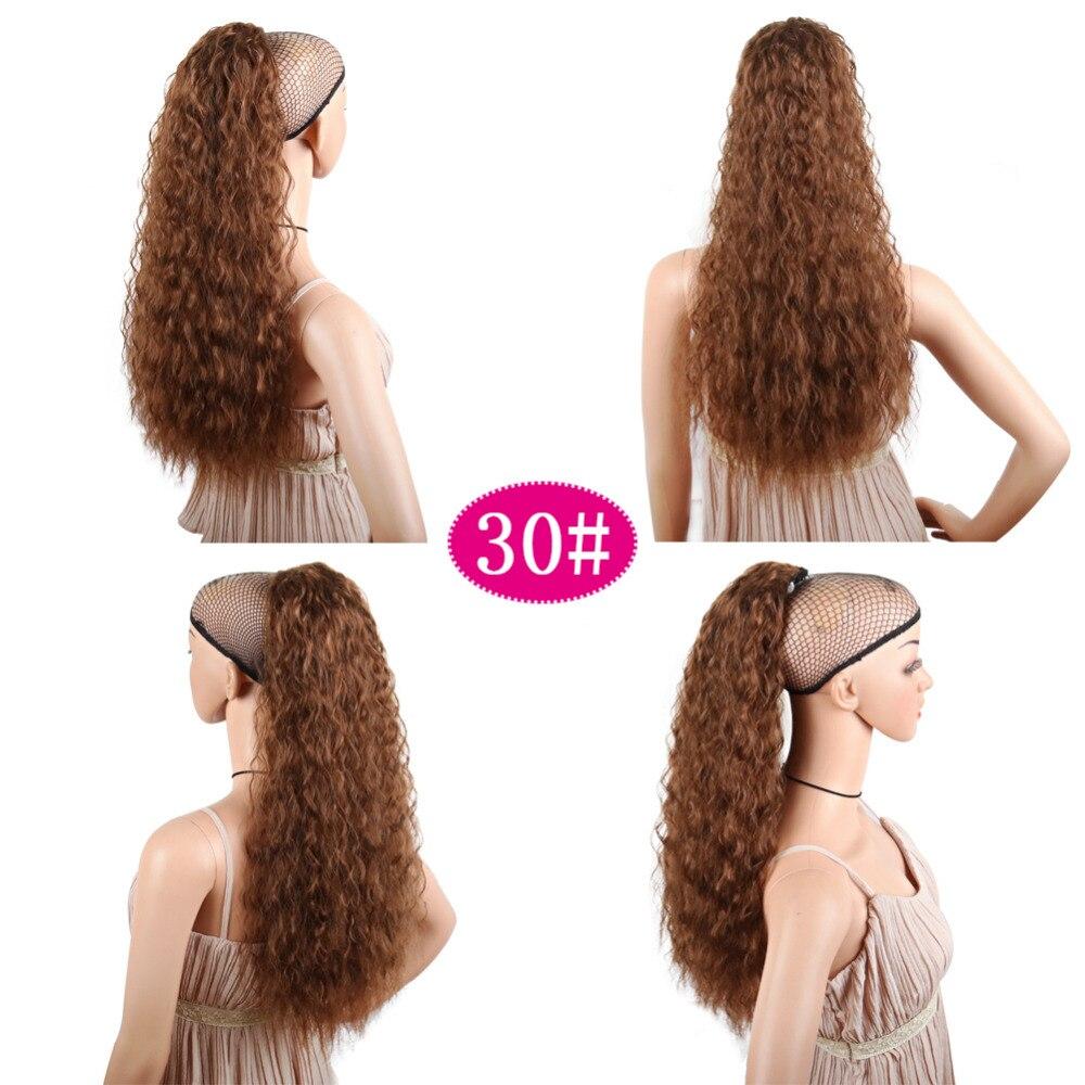 Deyngs extensão de cabelo sintético, rabo de