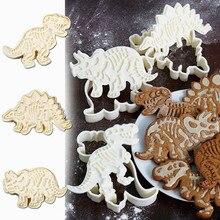 3 шт./компл. динозавр в форме печенья прессформы 3D бисквит мастика десерт пресс-формы для выпечки инструменты для украшения тортов из мастики#20