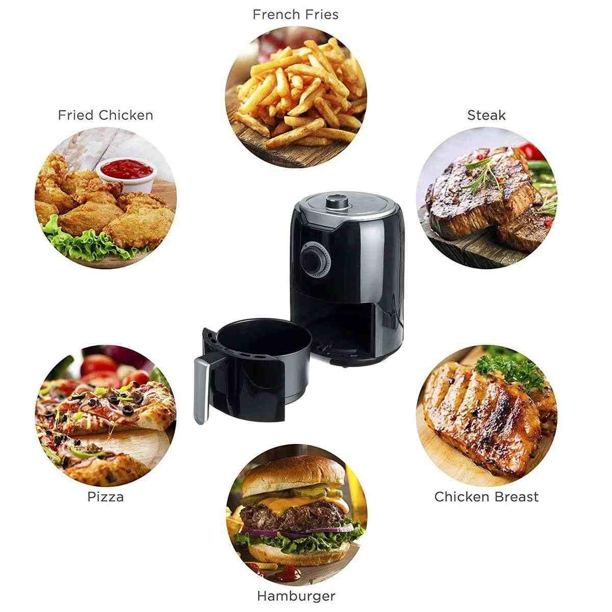 1000W 2Lไฟฟ้าAir FryerจับเวลาอุณหภูมิควบคุมPower Air Fryerไฟฟ้าในครัวเรือนHealthy Kitchenเครื่องมือทำอาหาร
