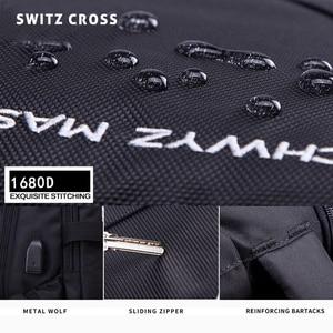 Image 5 - mochila Swiss Mens anti theft Backpack USB Notebook School Travel Bags waterproof Business 15.6 17 inch laptop backpack women