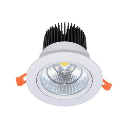 1pcs Super kecerahan ac85-230V LED COB dimmable Downlights 3W 5W 7W 9W 12W 15W LED lampu lampu siling