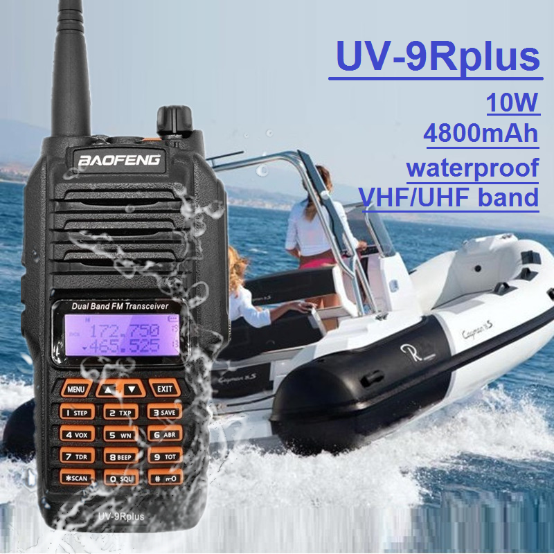 10W BAOFENG UV-9R Plus Walkie Talkie Waterproof Tansmitter Marine CB Radio Amateur VHF UHF UV9R Transceiver Ham Radio Scanner