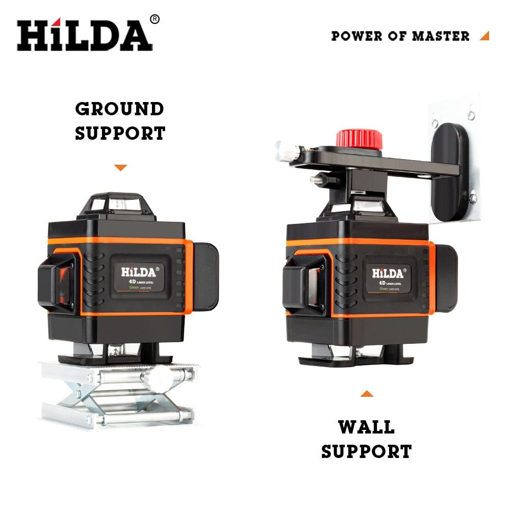 HILDA 12 16 Lines 3 4D Laser Level Level Self-Leveling 360 Horizontal And Vertical Cross Super Powerful Green Laser Level