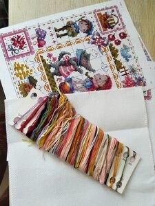 Image 5 - T pássaros e flores de pêssego e pássaros contados ponto cruz kit ponto cruz rs algodão com ponto cruz sonhos das meninas