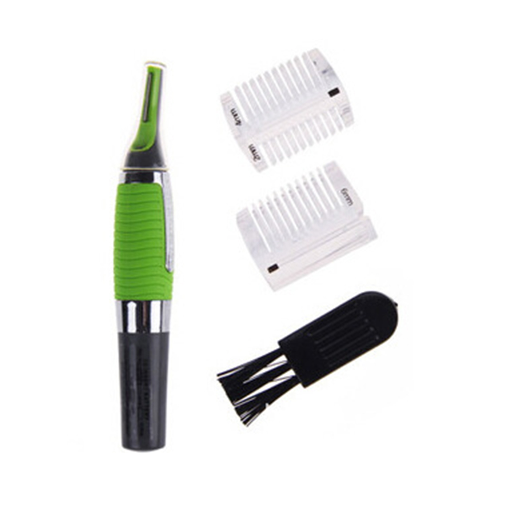 Multifunctional Eyebrow Ear Nose Trimmer Green Removal Clipper Shaver Personal Electric Face Care Hair Trimer With LED Light