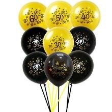 5 adet 30th doğum günü partisi balonlar 30 40 50 60 yıl mutlu parti dekorasyon aksesuarları yıldönümü parti malzemeleri balon Globos