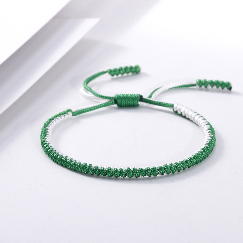 New Tibetan Buddhist Braided Rope Bracelet Handmade Knot Adjustable Lucky Bracelets & Bangles for Women Men Jewelry Dropshipping