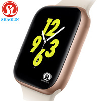 44mm Smart Watch Series 4 SmartWatch case for apple iPhone Android Smart phone heart rate monitor pedometor (Red Button)