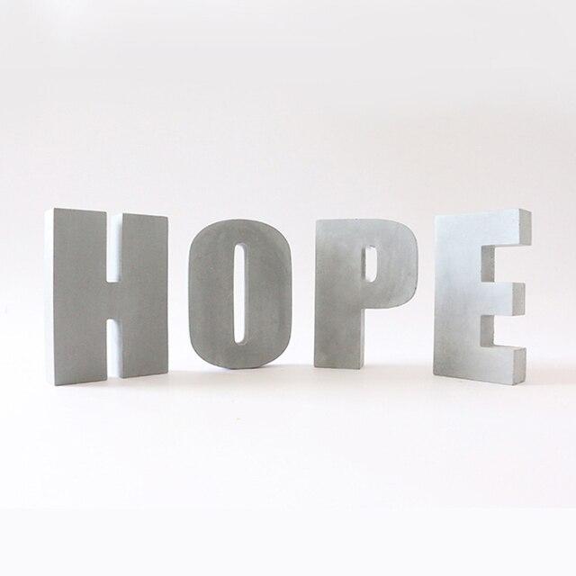Grande letra de concreto molde de silicone cimento alfabeto decoração molde criativo escritório bookends molde 16*3cm