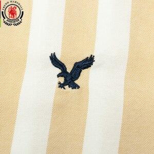 Image 3 - Fredd Marshall 2019 Herfst Nieuwe Mannen Gestreept Overhemd Casual Soical Lange Mouwen 100% Katoenen Shirts Camisa Masculina Homme Tops 221