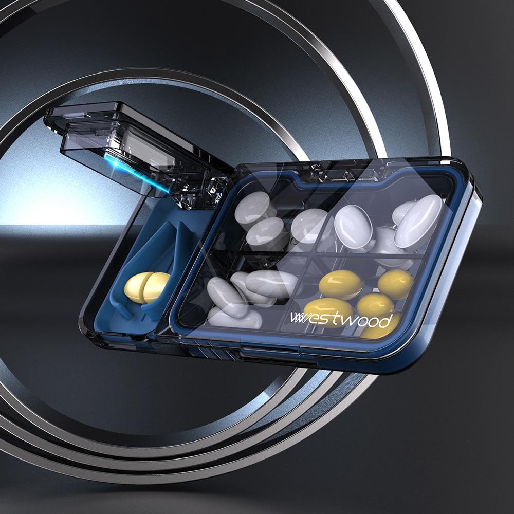 Многофункциональный Портативный Медицина Организатор ящик делитель таблеток отдельные делитель 7 дней таблетки Чехол Контейнер для хране...